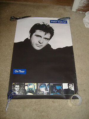 Peter Gabriel Promo Poster So 1986 David Geffen Company Large Tour Poster