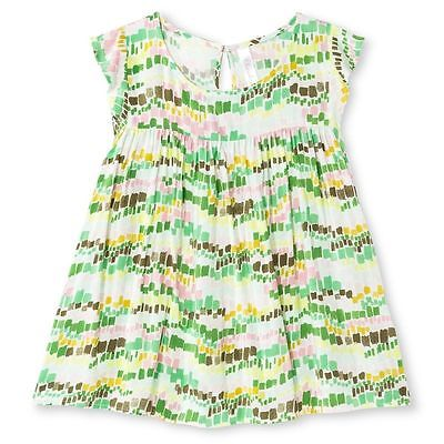 Lot of 17 - Cherokee Girls' Floral Top - Glistening Green - Size: Large