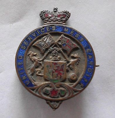 UNITED SERVICES MESS, CARDIFF, badge, Vintage