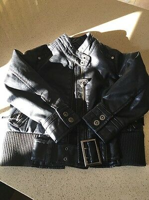 Girls Next Leather-look Jacket. Age 3-4 Yrs.