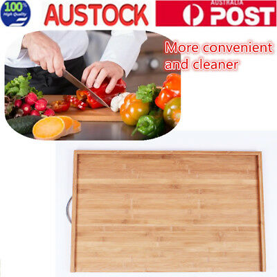 45x70CM High Quality Bamboo Cutting Board Chopping Block Panel Kitchen Set