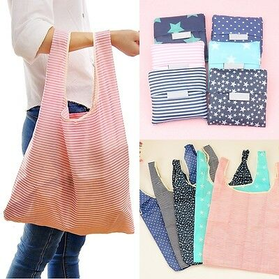 New Fashion Eco Shopping Travel Shoulder Bag Pouch Tote Handbag Folding Reusable