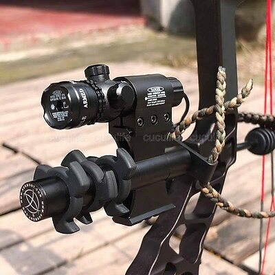 Aukmont Green Laser Bow Hunting Sight + 20mm Picatiny Rail CNC Stabilizer