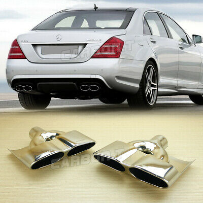 Exhaust Dual Tips For Mercedes-Benz S550 W221 S65AMG STYLE 07-13