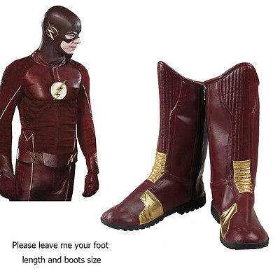 The Flash Season 1 Boots Shoes Barry Allen Bartholomew Henry Cosplay Custome