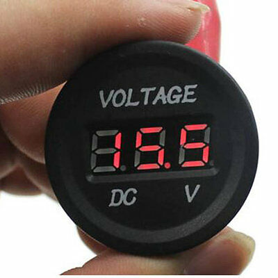 12V-24V Car Motorcycle LED DC Digital Display Voltmeter Waterproof Meter AO