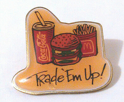 McDonald's Crew Employee Lapel Pin Advertising - Trade 'Em Up!
