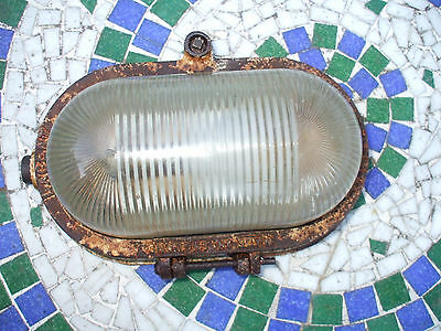 vintage cast iron bulkhead light made by lacent