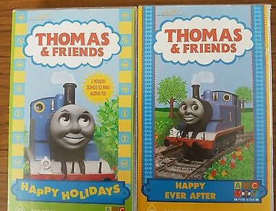 """Thomas The Tank Engine """"Thomas and Friends"""" VHS Video x 2"""