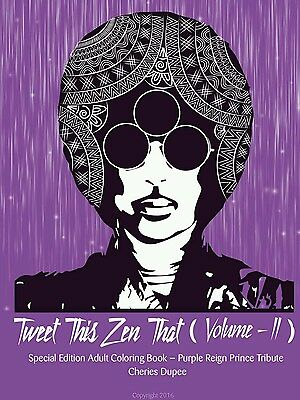 Prince Adult Coloring Book Purple Reign Special Edition