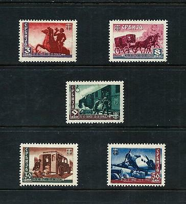 SERBIA (GERMAN OCC) _ 1943 'POST CENTENARY' SET of 5 _ mh ____(455)