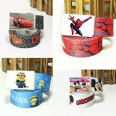 Children's Cool Waistband Adjustable Canvas Cartoon Belt Kids Toddler Boys Girls