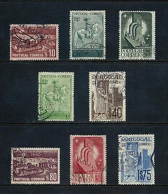 PORTUGAL _ 1940 'CENTENARIES' SET OF 8 _ used ____(455)