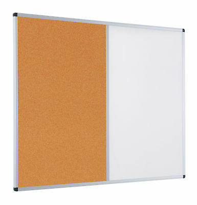 Dual Notice Boards with Aluminium Frame - Cork - 1200mm x 1800mm