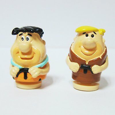 "2x The Flintstones Fred 1.5"" Figure Classic Cartoon Flinstones"