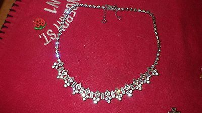 vintage diamante choker necklace stunning