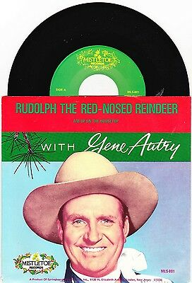 """Gene Autry - Rudolph The Red-Nosed Reindeer - 7"""" US Vinyl 45 - New & Unplayed"""