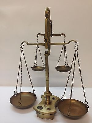 VTG Antique Brass Scale Balance with double arms Complete!