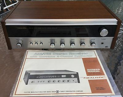 VINTAGE REALISTIC AM/FM STEREO RECEIVER with QUATROVOX 4 CH SYNTHESIZER STA-47