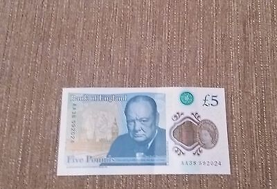 £5 Pound Notes 'aa38' Serial Number.