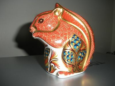 Royal Crown Derby Squirrel. Gold stopper