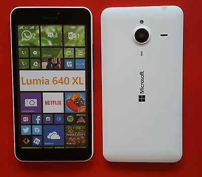 Microsoft Lumia 640 XL in Weiß Handy DUMMY Attrappe Requisit, Präsentation, Deko