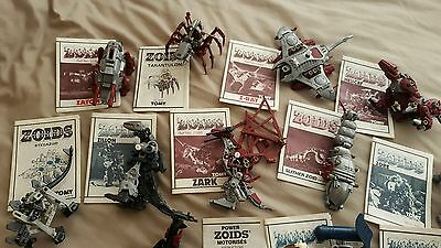 Lot of 15 Vintage Tomy Zoids complete with instructions, 80's rare