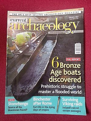 Current Archaeology Number 263 February 2012  Six Bronze Age Boats Discovered