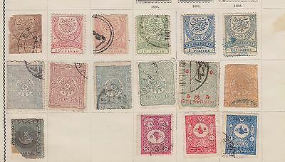 Ls122  Extremely Early Stamps & Newspaper Stamps From Turkey On Old Album Page