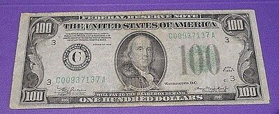 1934 - Federal Reserve Note  $100 One Hundred Dollar Bill -Old Money