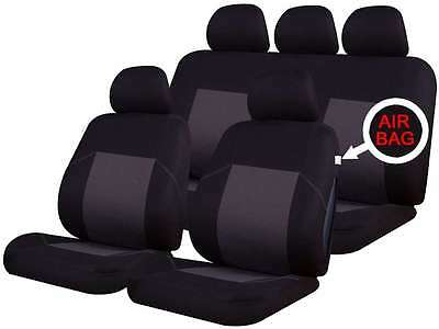 Toyota Yaris/Vitz Colchester Black/Navy Universal 9 Pce Front/Rear Seat Covers