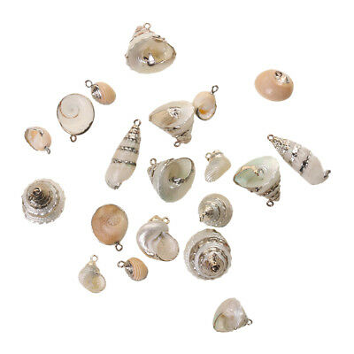 Gilding Sea Shell Conch Beads Pendants Charms Findings for Jewelry Making