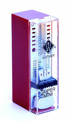 *NEW* Red Wittner Taktell Super Mini Pendulum Metronome Accurate and portable.