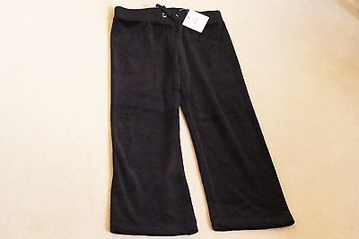 Juicy Couture - Girls Black Velour Trousers - Size 4/5 - New / BNWT
