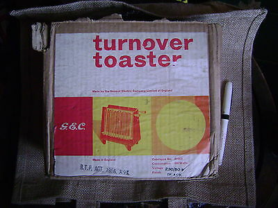 vintage electric turnover toaster boxed GEC 1956!