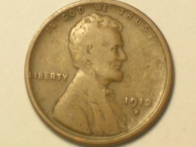1912-S   Lincoln Wheat Penny Cent, (Very Nice Coin)