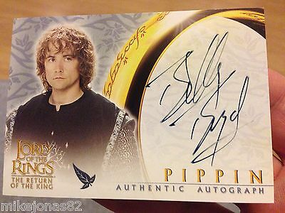 Lord of the Rings RETURN OF THE KING Billy Boyd / Pippin Auto Card LotR Hobbit
