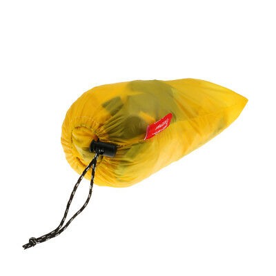 Outdoor Yellow Lightweight Portable Nylon Camping Wind Shelter 6 x 1M