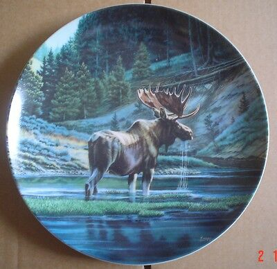 Dominion China Ltd Collector Plate THE MOOSE From WILD AND FREE CANADAS BIG GAME