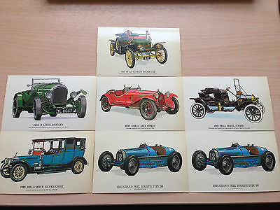 "A collection of 7 vintage motor card postcards (5.5""&3.5"" approx)"