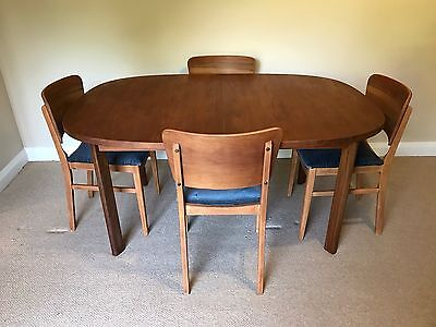 Vintage Retro Extending Gplan  Teak Dining Table & 4 Matching Retro Chairs