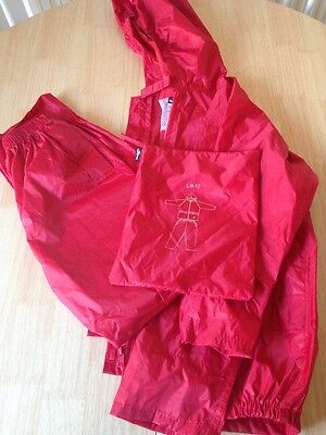Girls Waterproof Trousers And Jacket Age 9-10