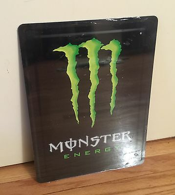 NEW Monster Energy 2-Sided Metal Tin Sign Claw 8x11 Comes with Monster Stickers