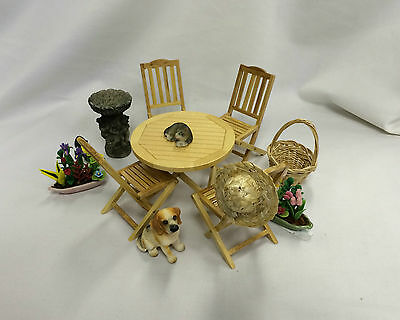 Dolls House Garden Furniture and Accessories 1:12 Scale