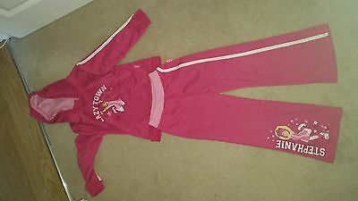 Lazy Town Hot Pink 2 Piece Tracksuit For Girl Aged 5-6 Years