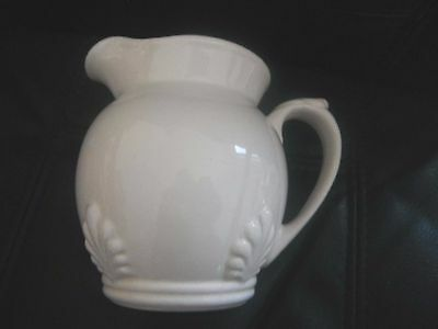 Wade Jug Nice Size White With Shell Design Very Pretty
