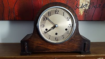 1930s / 1940s Wooden Mantle Clock with full Westminster Chime - spares or repair