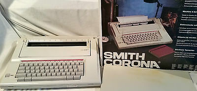 SMITH CORONA DLX 100 Electric Typewriter Boxed, Manuals & Correctable Cassette