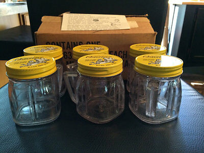 6 Vintage Osterizer Blend  & Store Containers W/Original Box & Instructions