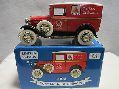 Citgo Petroleum Corp. Ford Model A Delivery Truck Die Cast Bank 1992 #2514